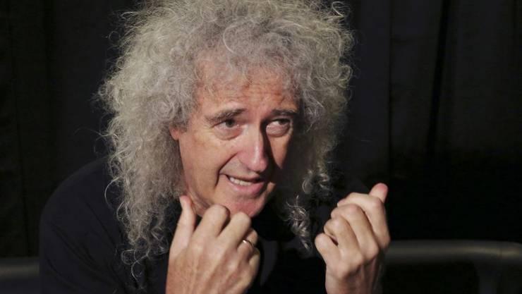 """Queen-Gitarrist Brian May hat im Buch """"Queen in 3-D"""" 300 bisher unveröffentlichte Fotos der Band versammelt. Zum Glück für Fans: Er wirft nie was weg. (Archivbild)"""
