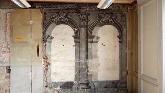 Im Schloss Burgdorf kamen bei Renovationsarbeiten Wandmalereien aus dem Jahre 1686 zum Vorschein. (Handout)