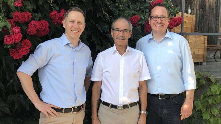 Marc Jenzer (links) und Raphael Ledergerber (rechts) übernehmen das Präsidium von Werner Rufli
