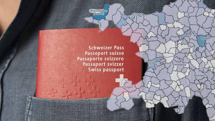 Der Kanton Aargau ist bevölkerungsmässig durchmischt. In der Vergangenheit sah dies teilweise anders aus.