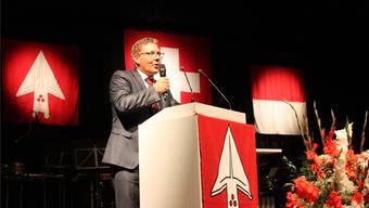 Roland Fürst hielt am Wochenende gleich fünf Bundesfeier-Ansprachen, die letzte davon in Grenchen. Andreas Toggweiler