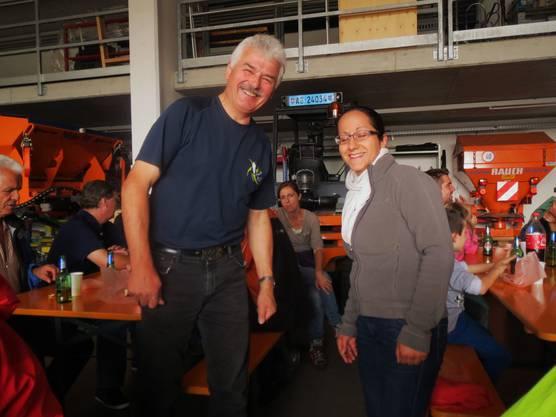 Gemeinderätin Therese Engel-Hitz und QV-Präsident H.P.Schneider freuen sich am Erfolg....