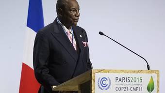 Guineas Präsident Condé bei der Klimakonferenz von Paris Ende November: Condé ernannte am Samstag einen neuen Regierungschef. (Archivbild)