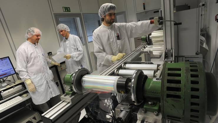 Hightech ist Trumpf: Blick in eine Reinkammer des Schweizerischen Zentrums für Elektronik und Mikrotechnik.