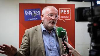Spitzenkandidat der europäischen Sozialdemokraten für die Europawahl 2019: der frühere niederländischen Aussenminister Frans Timmermans. (Archivbild)