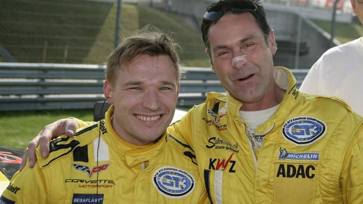Grund zur Freude: Toni Seiler (rechts) mit Teamkollege Christian Hohenadel. (Bild zvg)