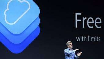 Software-Entwickler Craig Federighi präsentiert neue Funktionen