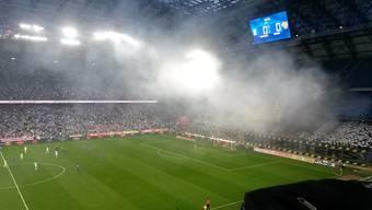 Grossartige Stimmung im INEA-Stadion.