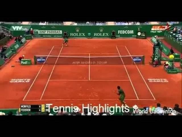 Highlight der Partie Federer - Monfils