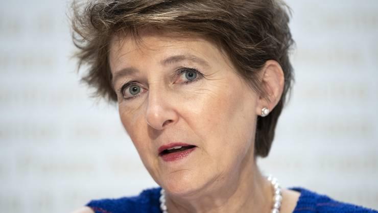 Simonetta Sommaruga ist seit Anfang Jahr für die Medienpolitik zuständig. Sie will diese anders ausrichten als Vorgängerin Doris Leuthard.