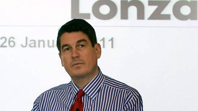 Lonza-Chef Stefan Borgas präsentiert die Zahlen