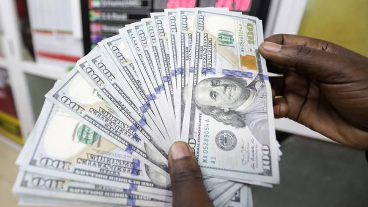 Der US-Dollar ist zum Franken gefallen (Symbolbild).