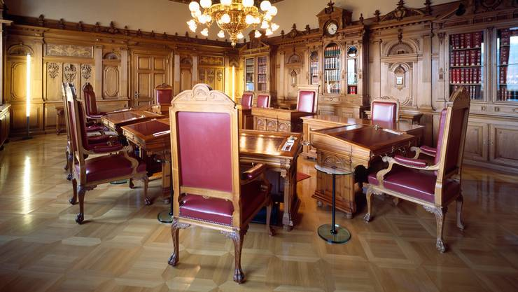 Blick ins Bundesratszimmer: Wer nimmt wo Platz?