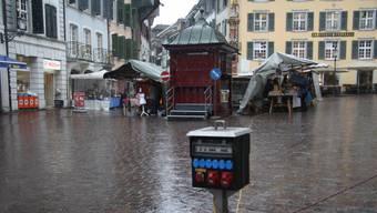 Der Solothurner Monatsmäret im Februar bot wegen des grüseligen Wetters ein trauriges Bild.