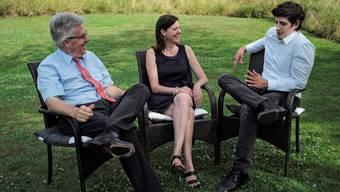 Der abtretende CVP-Präsident Marc Scherrer (r.) liess die bürgerliche Zusammenarbeit mit SVP-Präsident Oskar Kämpfer und FDP-Präsidentin Christine Frey wieder aufleben.