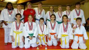 Judo Sport Liestal als doppelt Basler Mannschaftsmeister Titel 2017.