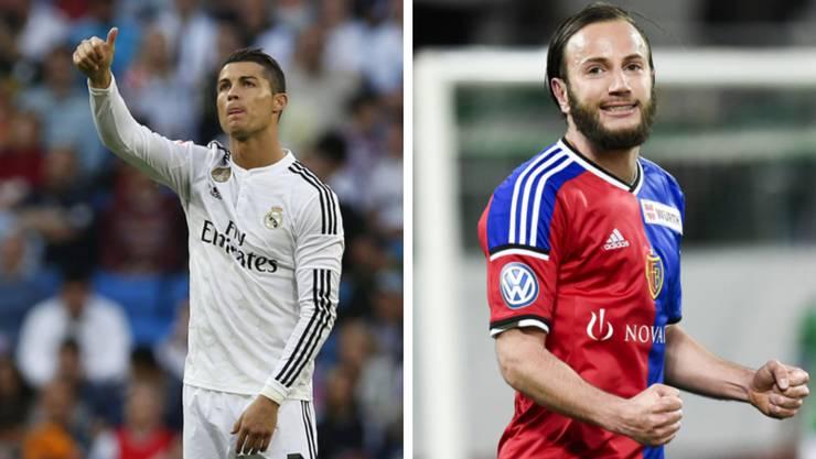 Cristiano Ronaldo traf in der abgelaufenen Saison 48 Mal, Shkelzen Gashi 22 Mal.