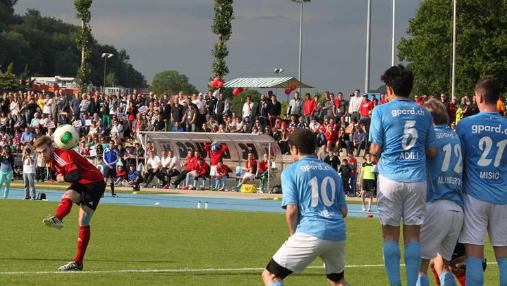 Die Mauer des FC Windisch hielt gegen Küttigen nicht dicht.