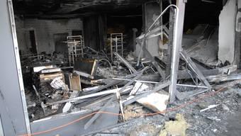 Drei Läden wurden in Fislisbach durch den Brand vollkommen zerstört