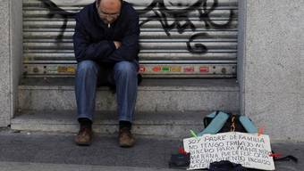 Arbeitsloser in Madrid (Archiv)