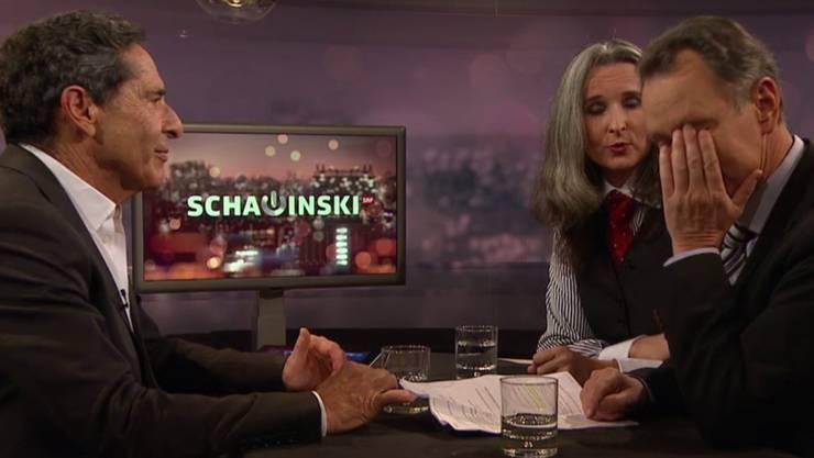 Roger Schawinski mit Estermann und Müller.