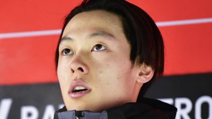 Ryoyu Kobayashi steht einmal mehr als Sieger auf dem Podest.