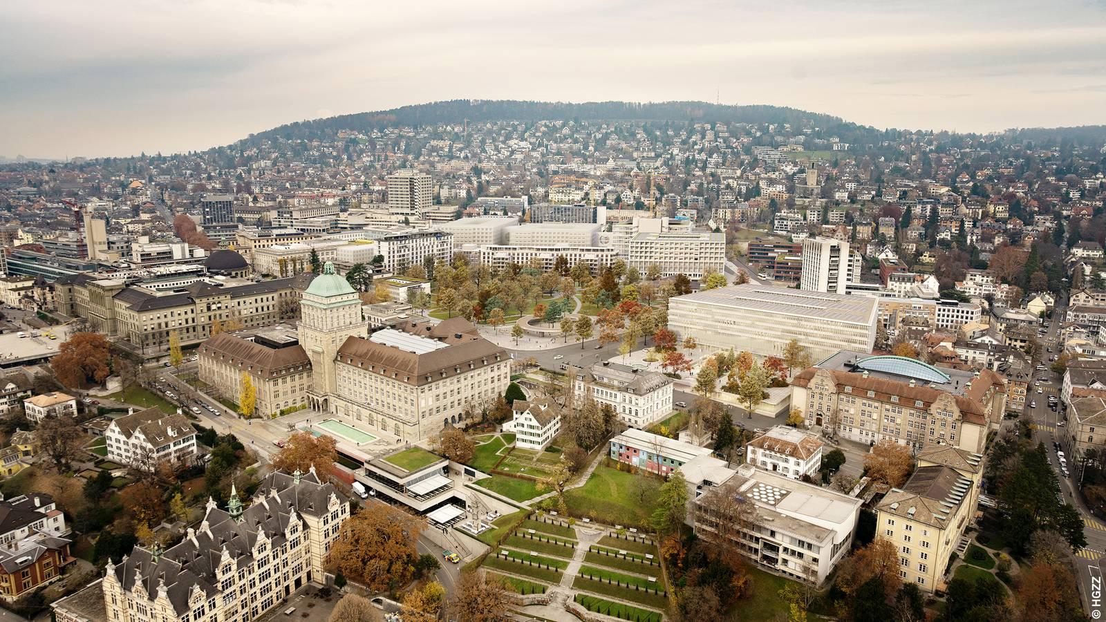 Das neue Hochschulgebiet aus der Vogelperspektive (© HGZZ)