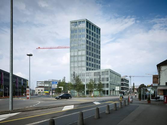 Das 45 Meter hohe GastroSocial-Gebäude wurde zwischen 2013 und 2015 gebaut. Es überragt sämtliche Gebäude des neuen Aeschbach-Quartiers.