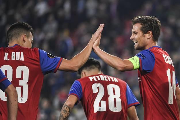 Die Freude über die ersten drei gewonnen Punkte ist riesengross, so macht die Europa League Freude.