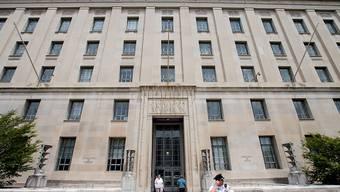 US-Justizministerium in Washington: Die US-Behörden sprechen gegenüber der Ersparniskasse Schaffhausen eine Busse über gut 2 Millionen Dollar (Archiv)