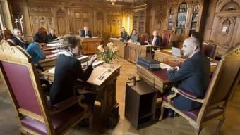 Die Bundesräte bei einer Sitzung (Archiv)