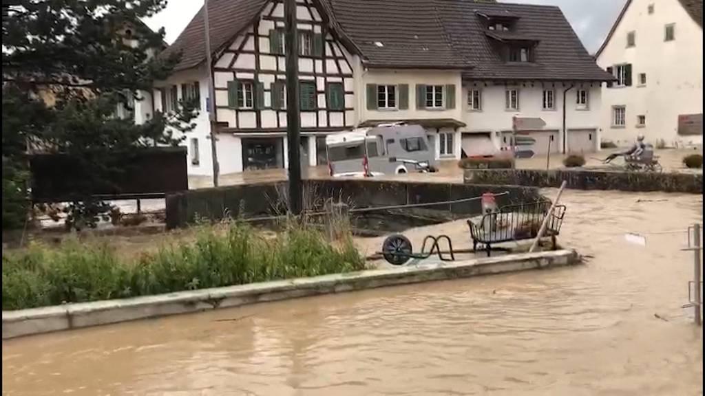 Unwetterschäden: Schaffhauser Dörfer stehen unter Wasser