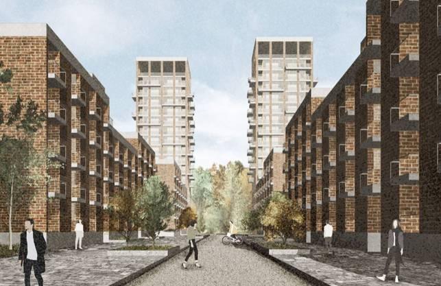 Ein neues Wohnquartier das zum «Central Park» hin offen ist.