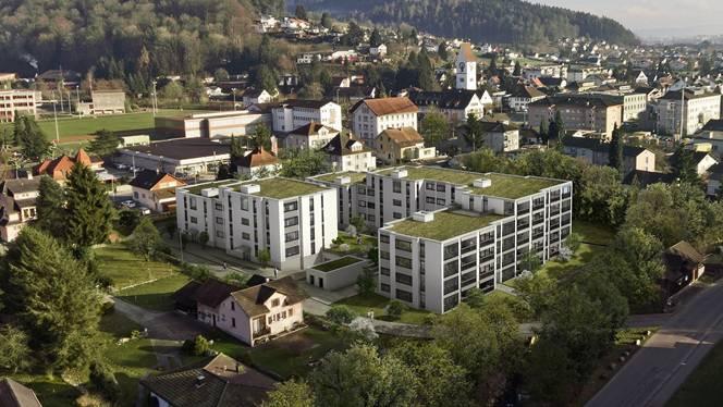 Blick in die Zukunft: So wird die Überbauung der Avara Immobilien AG im Unterkulmer Ortskern aussehen.