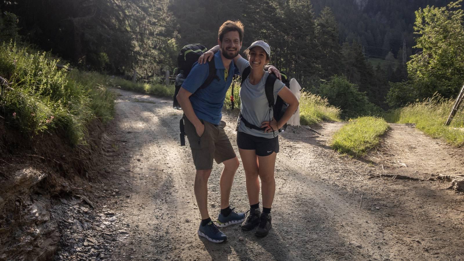 Sieben Tage sind Celine und Dominik bereits unterwegs. (© Radio 24)