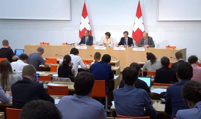Die Medienkonferenz vom Montag in Bern