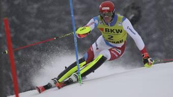 Ramon Zenhäusern beendet den Slalom in Flachau auf dem sechsten Platz.