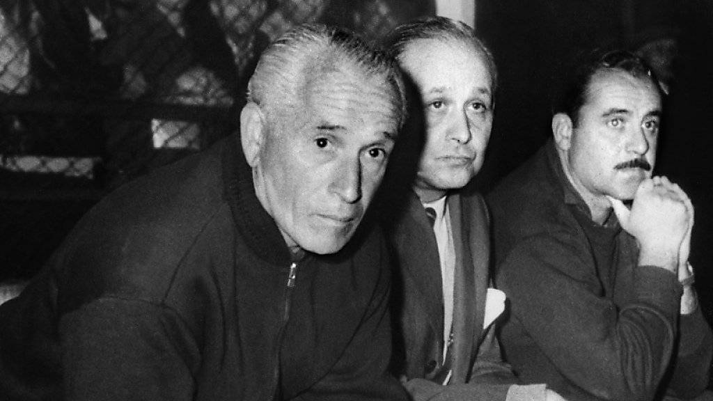 Noch immer Argentiniens Nationaltrainer mit der längsten Amtszeit: Guillermo Stabile (links)