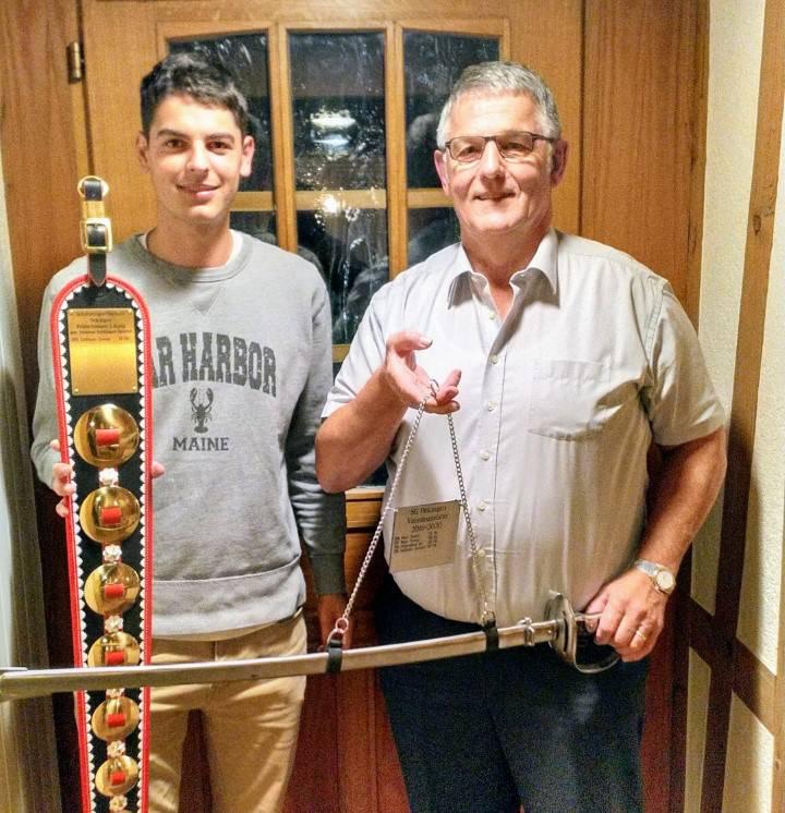 Damian Guldimann gewinnt den Wanderpreis für das Felschiessen 2020 und Heinrich Guldimann ist Vereinsmeister 2019