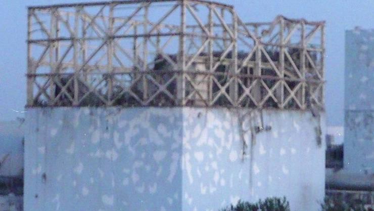 Das Reaktorgebäude von Fukushima 1 nach der Explosion