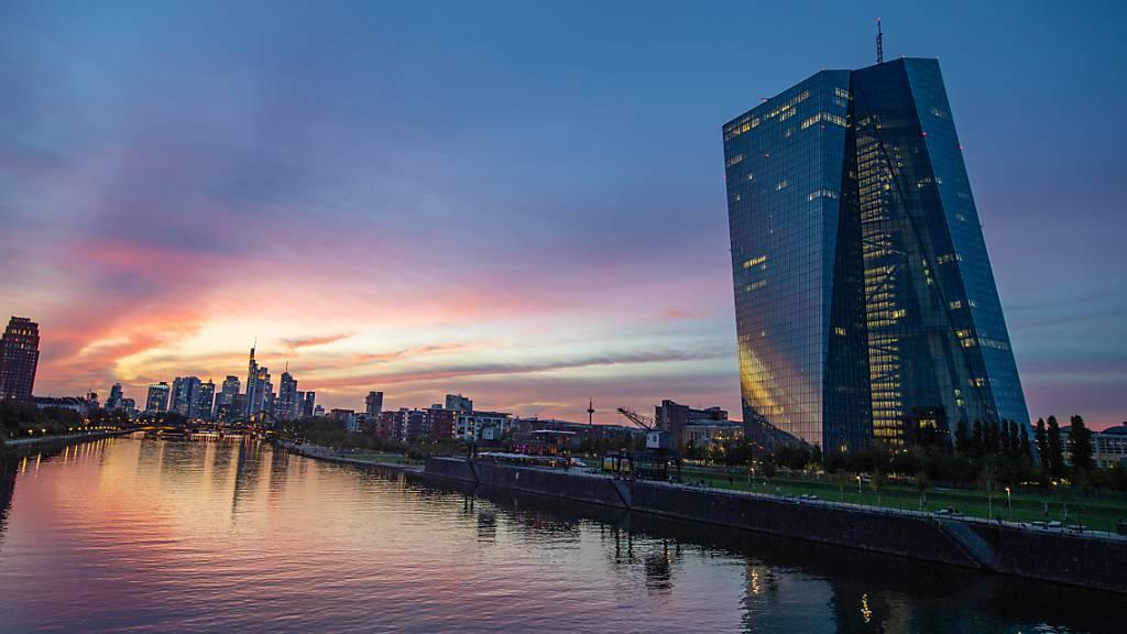 Der Hauptsitz der Europäischen Zentralbank (EZB) in Frankfurt.