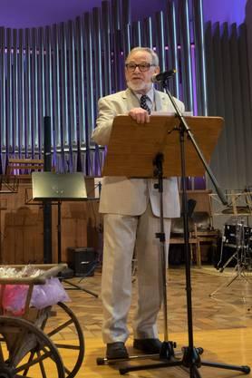 Jean-Claude Perrin, Präsident der Musikschule Schlieren, begrüsst die Gäste an der Jubiläumsfeier.