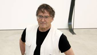 Gunter Frentzel, hier im Haus der Kunst in Solothurn anlässlich einer neuen Ausstellung.