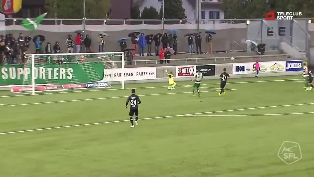 Challenge League 2019/20, 10. Runde: SC Kriens - FC Aarau, 15. Minute