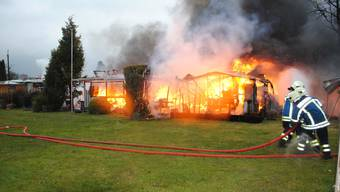 Wohnwagenbrand in Staad (28.März 2018)