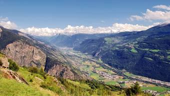 Das Rhonetal im Wallis ist eines der Täler, das in der Avenir-Suisse-Studie untersucht wurde.