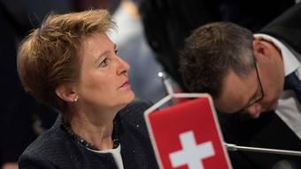 """Bundesrätin Simonetta Sommaruga hat am Donnertag in Innsbruck die bisher bescheidene politische Arbeit Europas im Migrationsbereich kritisiert: """"Die Bilanz heute ist ernüchternd."""", sagte sie kurz vor dem Treffen der EU-Innenminister."""