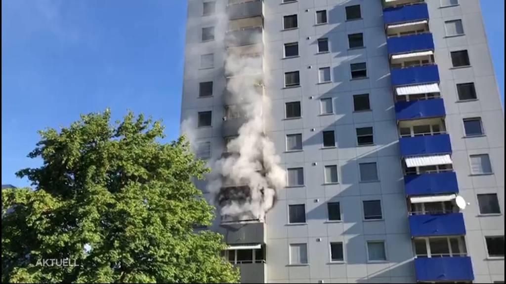 Brand in Solothurner Hochhaus: Mann wurde evakuiert