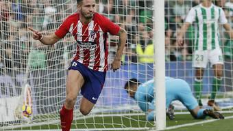 Atlético Madrids einziger Torschütze beim Auswärtssieg gegen Betis Sevilla: Saul Niguez