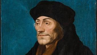 Erasmus im Porträt aus der Werkstatt Hans Holbeins des Jüngeren von 1530